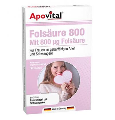 اسید فولیک آپوویتال Apovital Folsaure 800