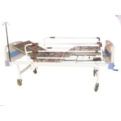 تخت بیمار سه شکن مکانیکی رویه ABS کد 104