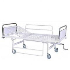 تخت بیمار بیمارستانی مکانیکی تک شکن فلزی D300